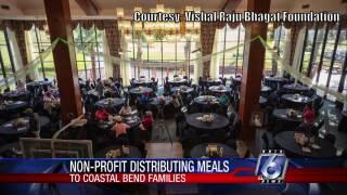 Vishal Raju Bhagat Foundation provides drive-through Thanksgiving dinners