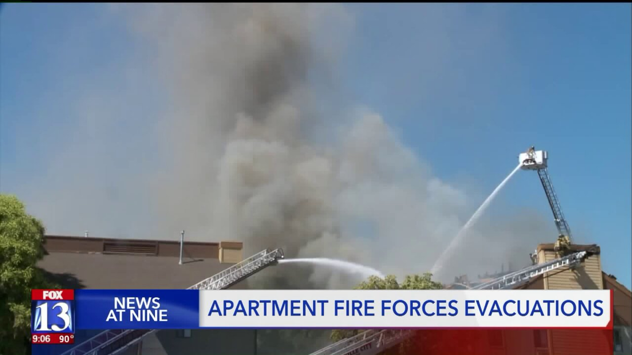 Dozens lose home, belongings in Layton apartment complex fire