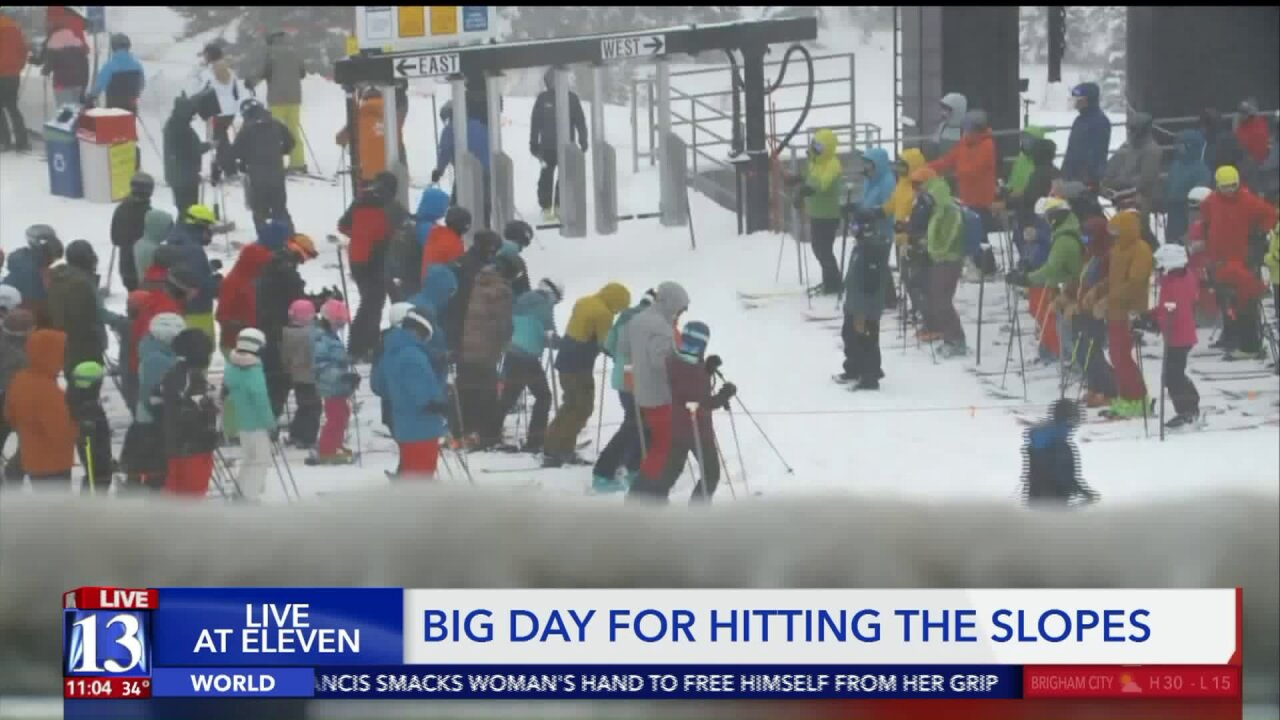 People up before the sun New Year's Day to hit theslope