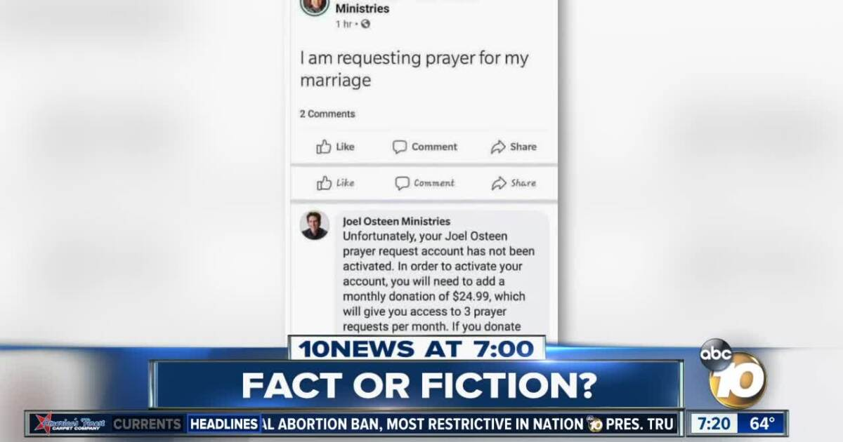 Fact or Fiction: Joel Osteen demanded $25 for a prayer?