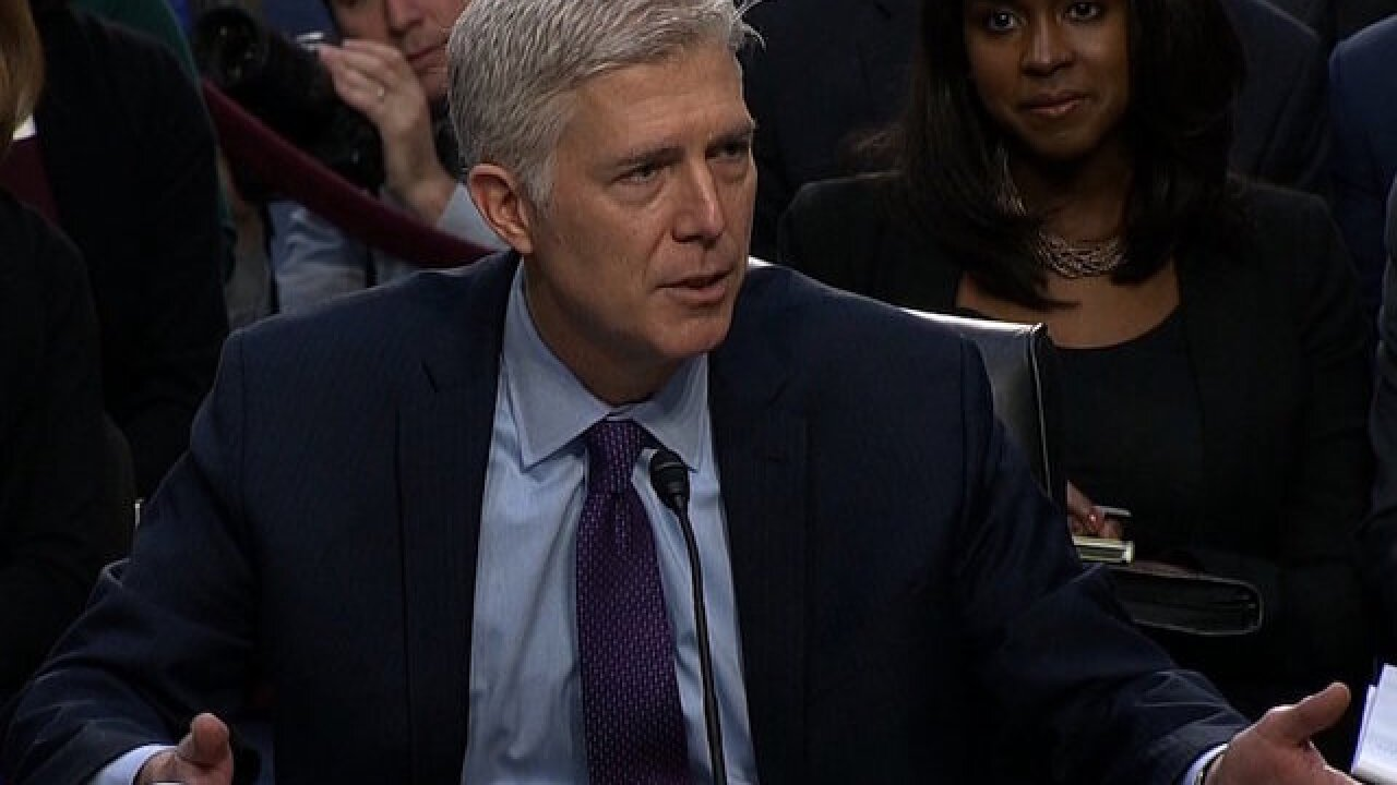 Gorsuch grilled on Trump: 'No man is above the law'