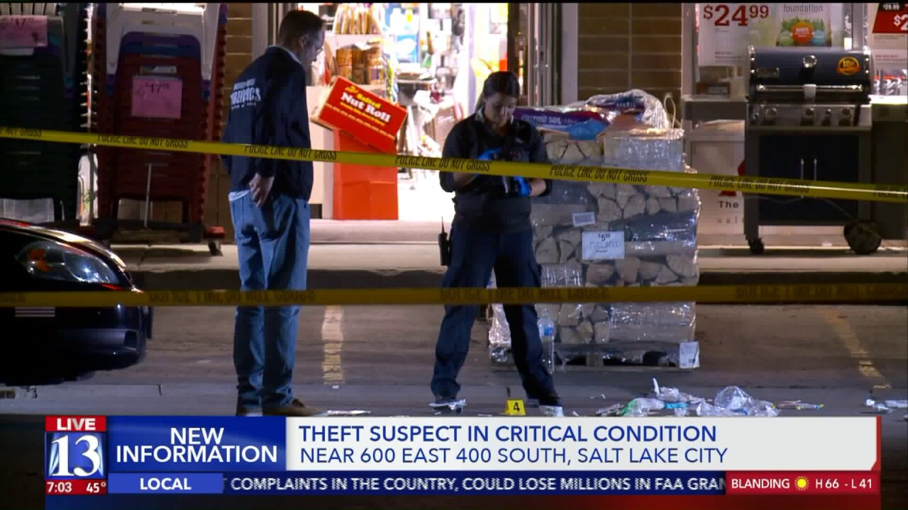Suspected thief in critical condition after confrontation at Salt Lake City hardwarestore