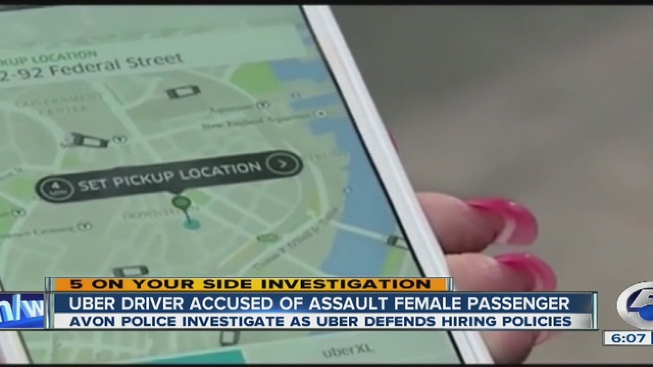 PD: Uber driver accused of sex assault in Avon