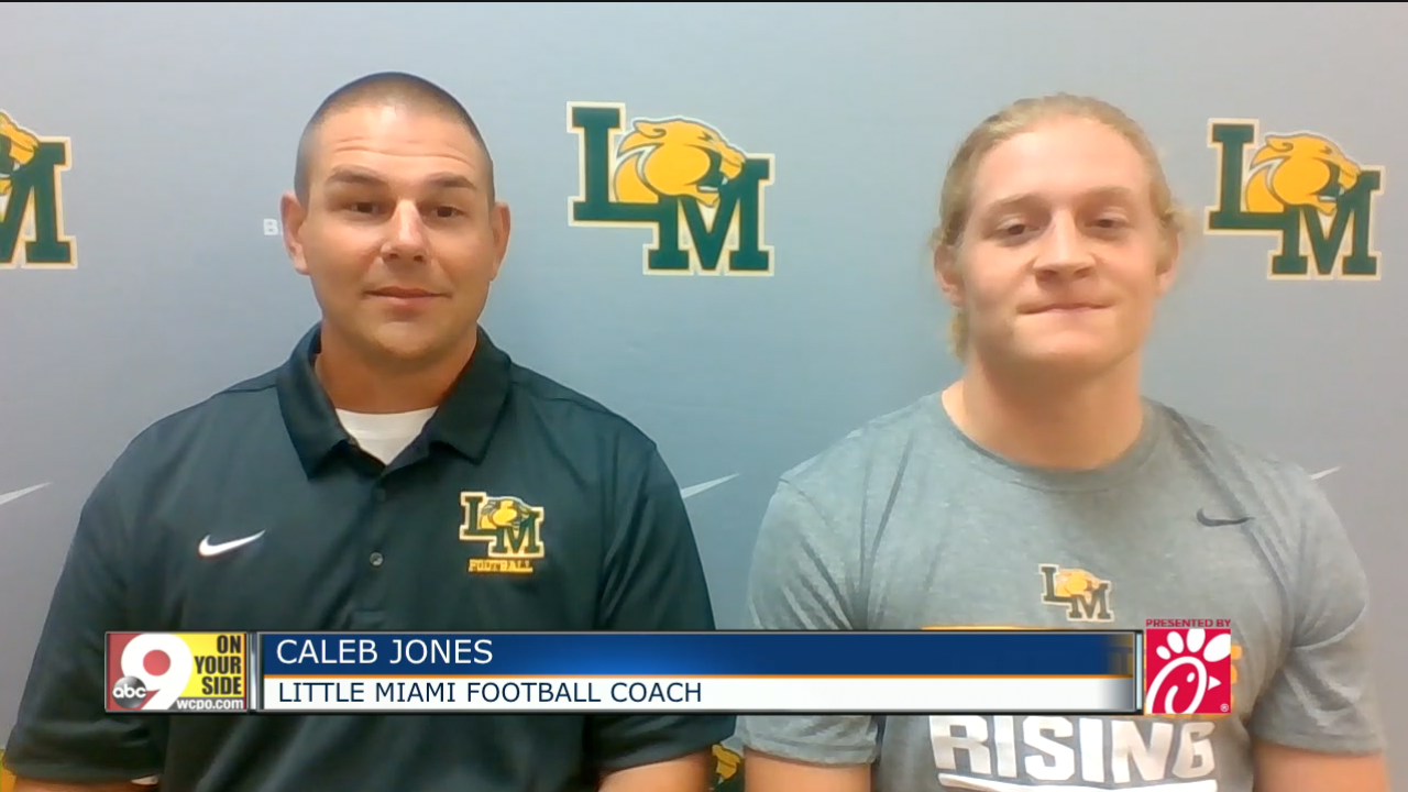 Little MiamI coach Caleb Jones and quarterback Brody Reder