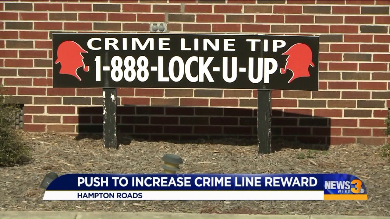 Virginia delegate looks to increase maximum Crime Line rewards; local organizations have mixed concerns