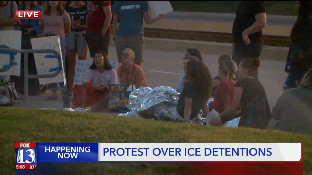Activists protest ICE treatment of immigrants, asylum seekers