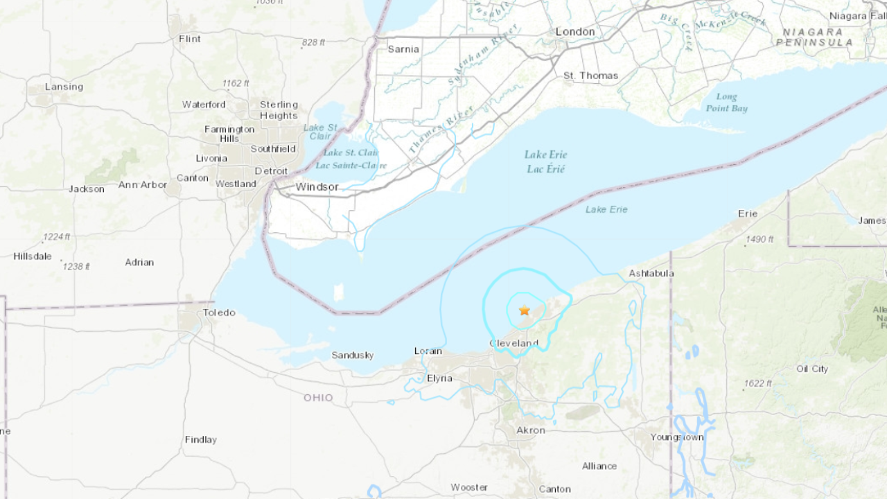 Magnitude 40 Earthquake Hits Northeast Of Cleveland - Cleveland-us-map