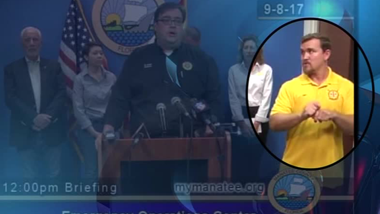 Deaf community outraged after Manatee County used an amateur interpreter during Irma