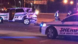 PBSO deputy injured in overnight crash with suspected DUI driver near Royal Palm Beach