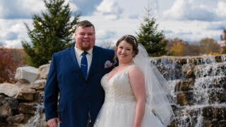 Brianna Berry and her husband Lew, who died on April 6, 2020 of COVID-19 complications