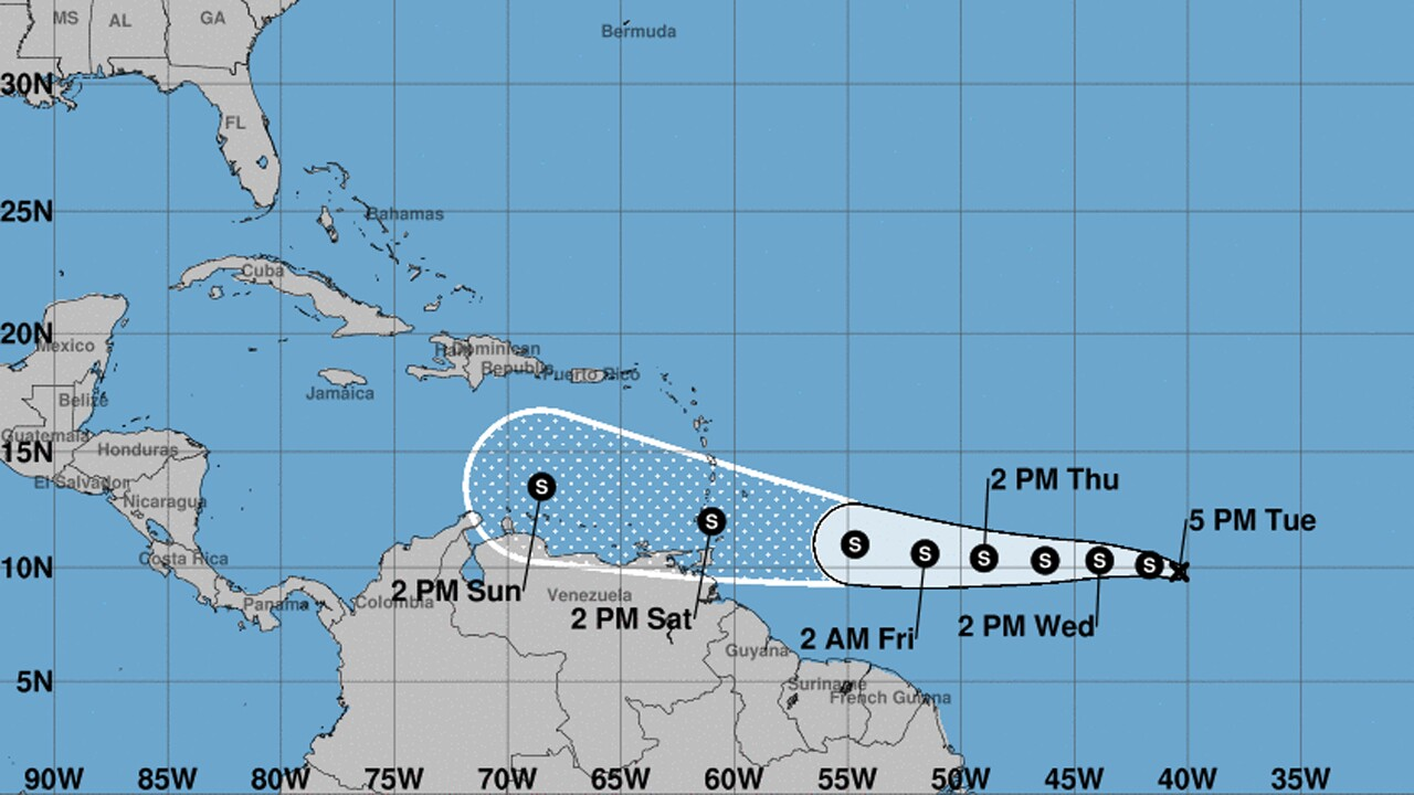Tropical Depression Seven has formed in the Atlantic ocean.