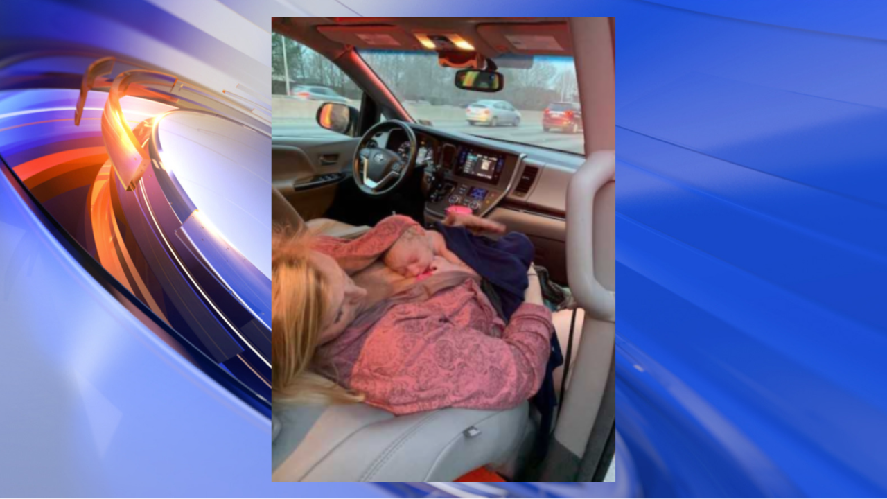 Virginia Beach woman gives birth in minivan on side of I-64