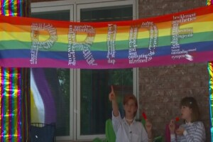 Murray neighborhood bands together for nonbinary teen after triple pride flag vandalism