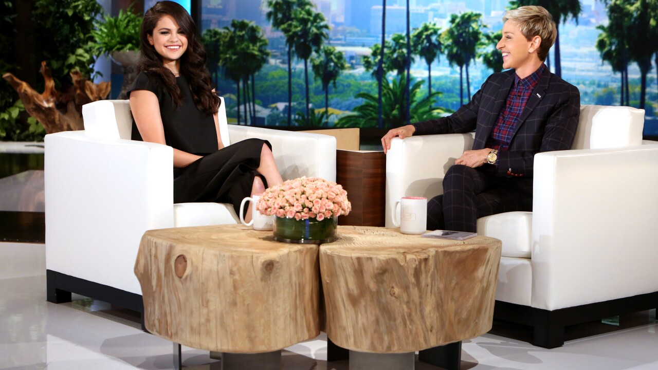 Selena addresses double dose of scares on today's Ellen