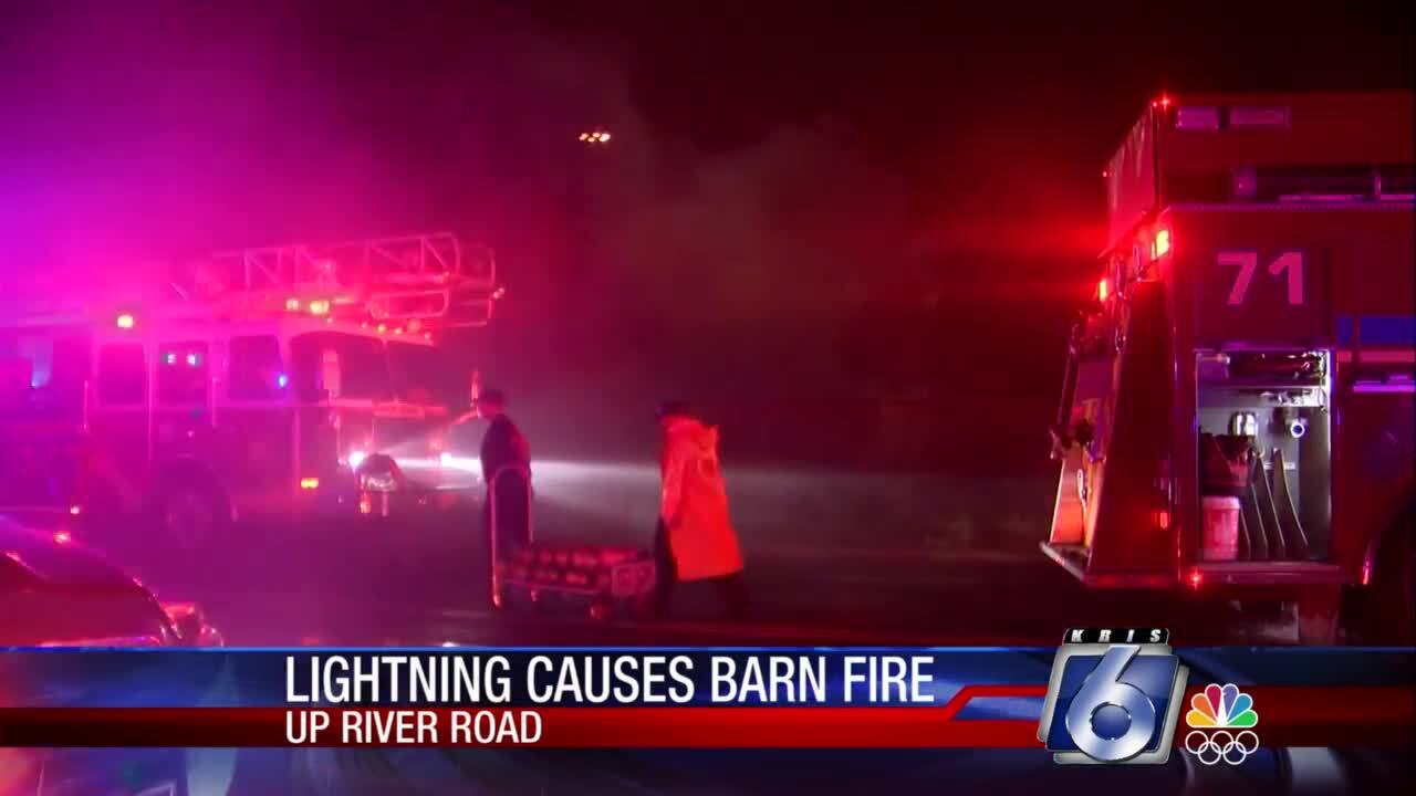 Barn fire at Up River Road and McKinzie Road