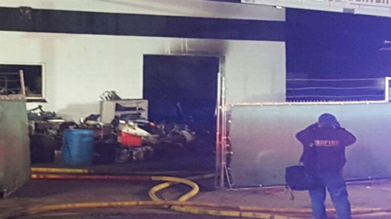 1 dead, 1 injured in auto body shop fire