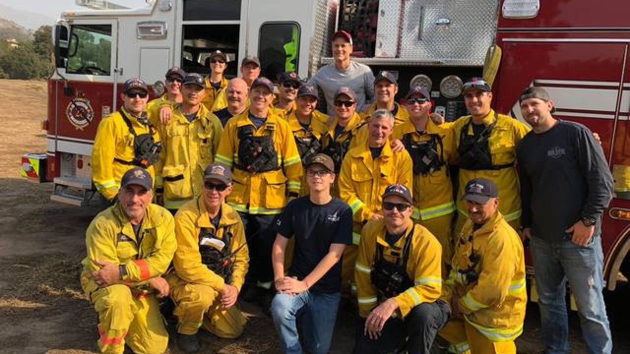 Actor Rob Lowe thanks firefighters who saved his home from California wildfire