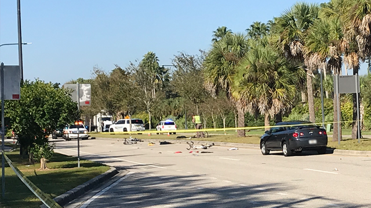 Officials: Bicyclists hit by vehicle in Venice