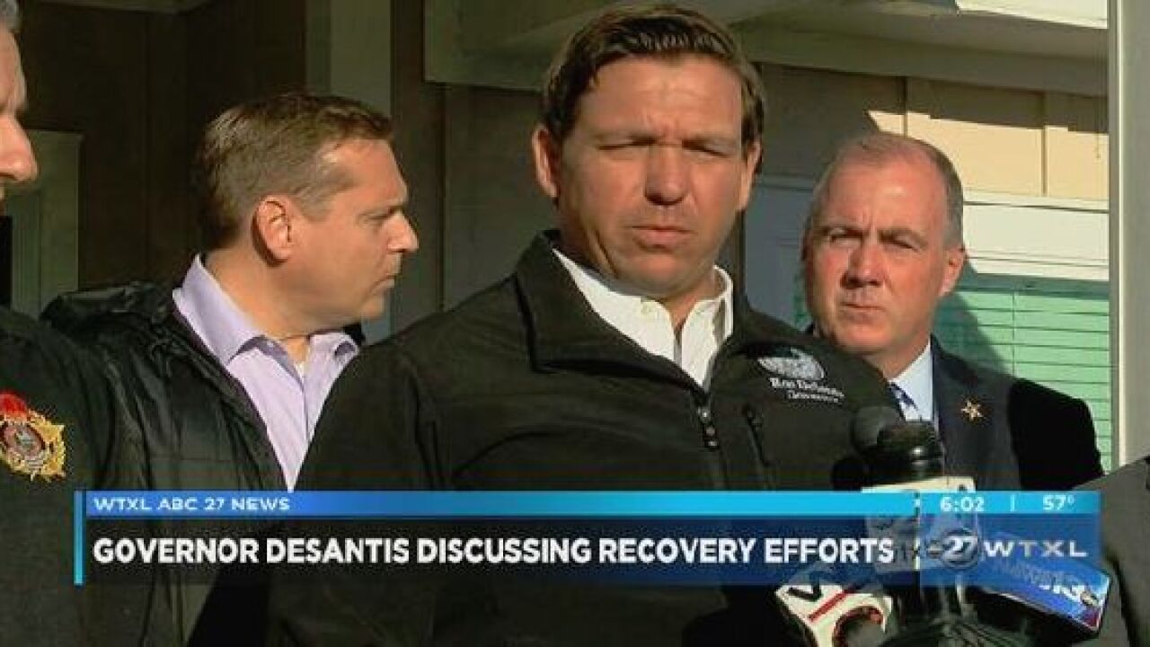 Gov. DeSantis discusses recovery efforts in Mexico Beach following Hurricane Michael
