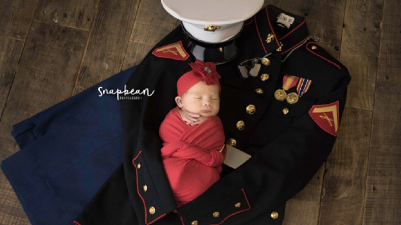 Marine killed days before daughter's birth