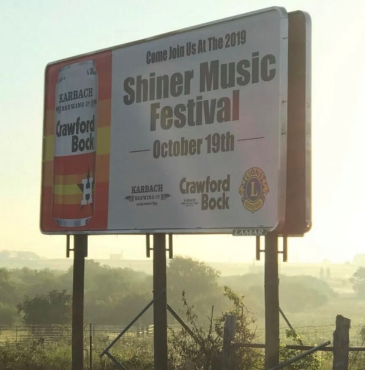 Shiner billboards from Karbach Brewing Co.