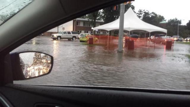 Most devastating flooding photos from across Metro Detroit
