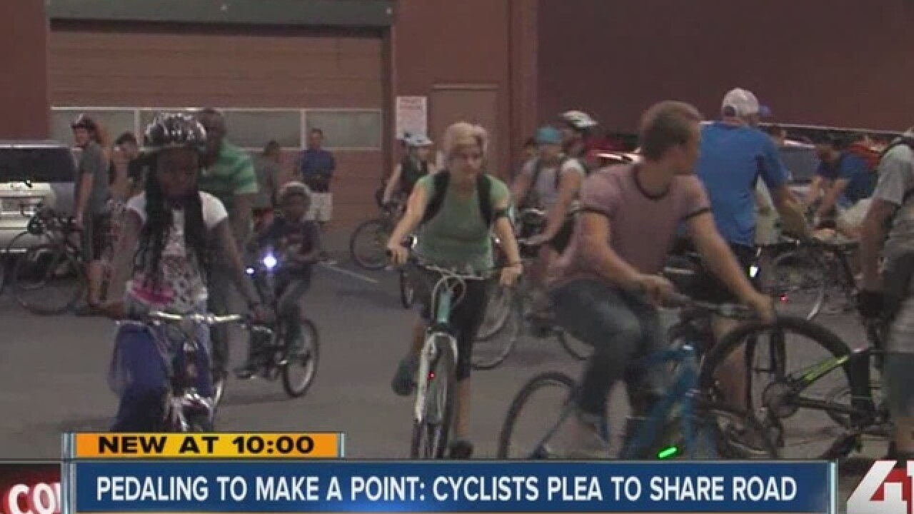 Cyclists take over streets to promote safety