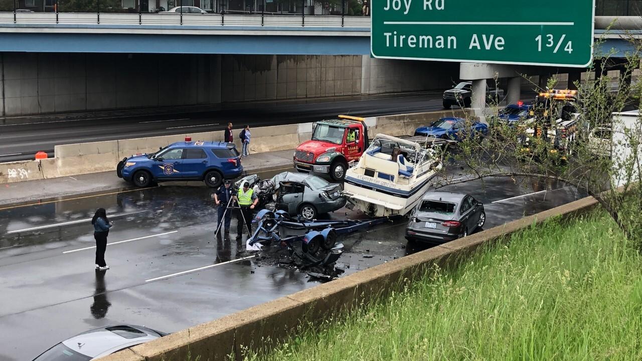 Police investigating 3-vehicle crash on eastbound I-96