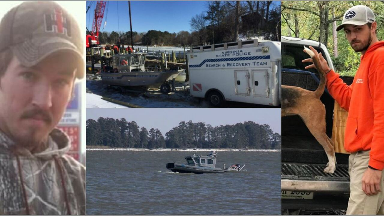 Virginia hunters missing on James River