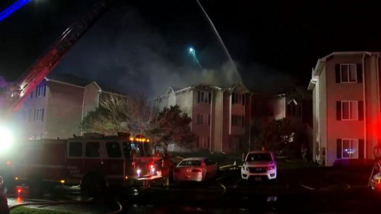 Firefighters battling major apartment fire