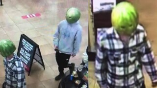 Police arrest 'melon head' who stole from gas station