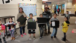 Families given refurbished computers