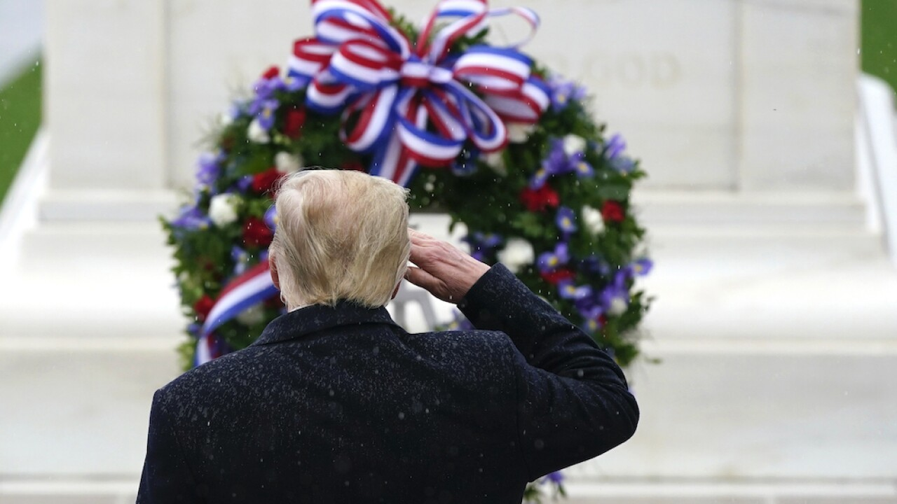 President Donald Trump to lay wreath at Tomb of the Unknown Soldier in Veteran's Day ceremony