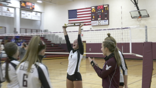 Manhattan Christian volleyball sweeps Lone Peak, wins Western C Championship