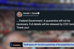 Quarantine not necessary: Trump