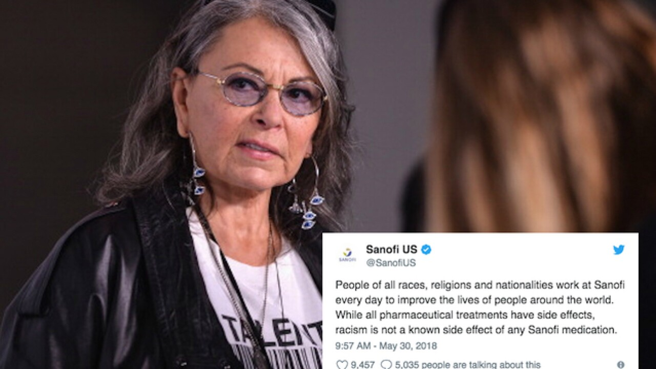 Makers of Ambien clap back at Roseanne Barr: 'Racism is not a known side effect'