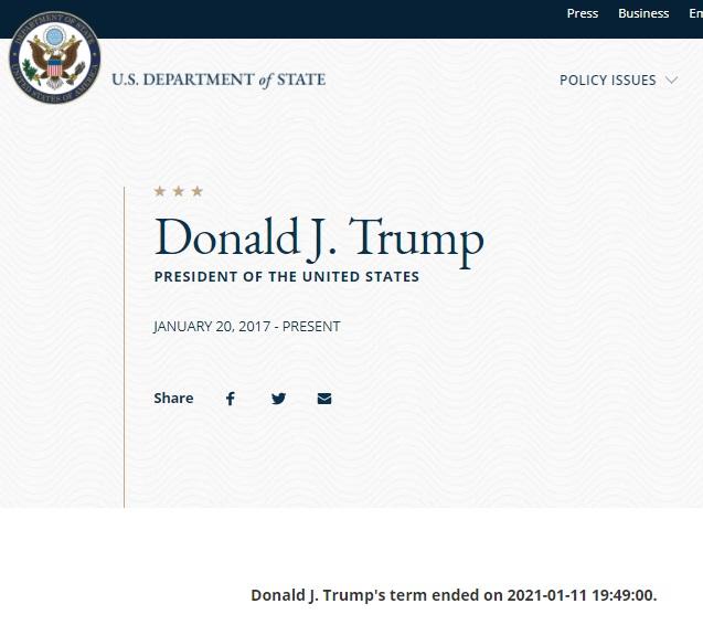 Trump Biography Glitch