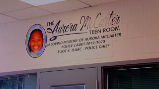 Cincinnati police dedicate room to cadet, Aurora McCarter, killed by gun violence