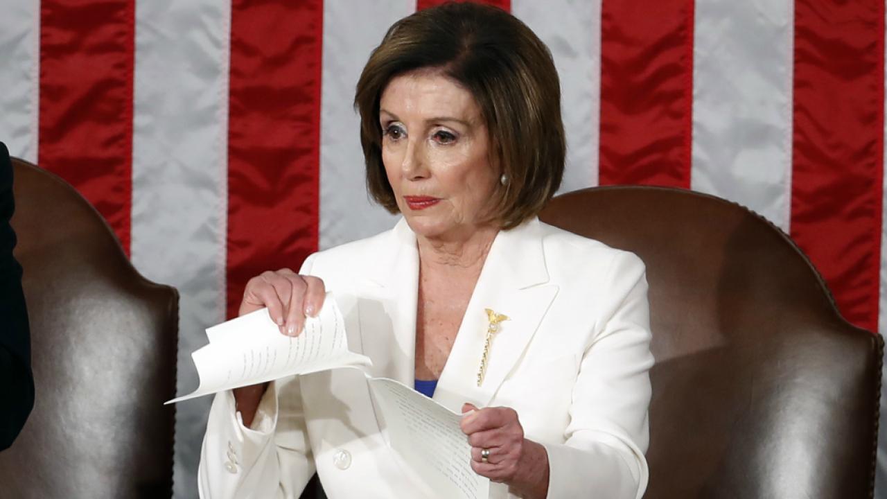Nancy Pelosi rips up State of the Union speech