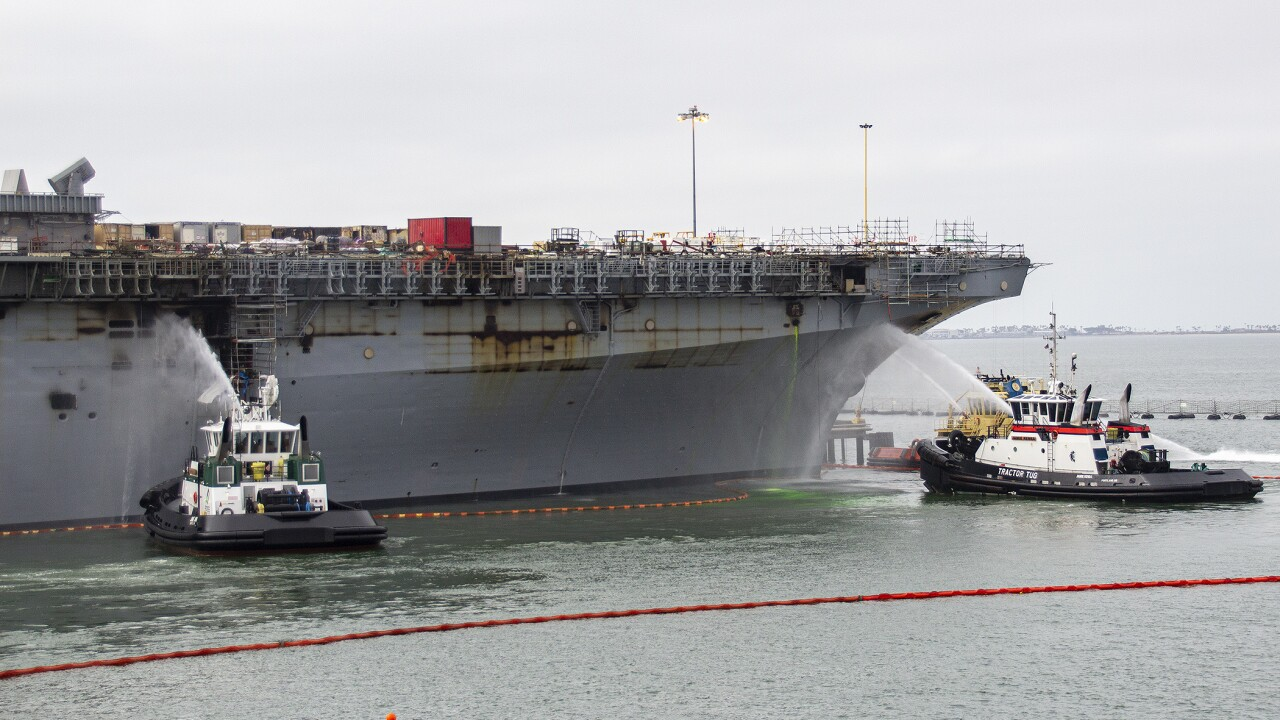 USS Bonhomme Richard Fire Recovery Efforts