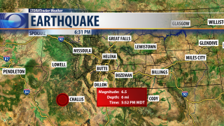 Numerous reports of an earthquake felt in Great Falls
