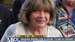 Grandma survives after rollover into ravine