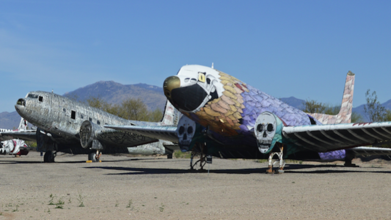 There is a secret airplane graveyard in Arizona!