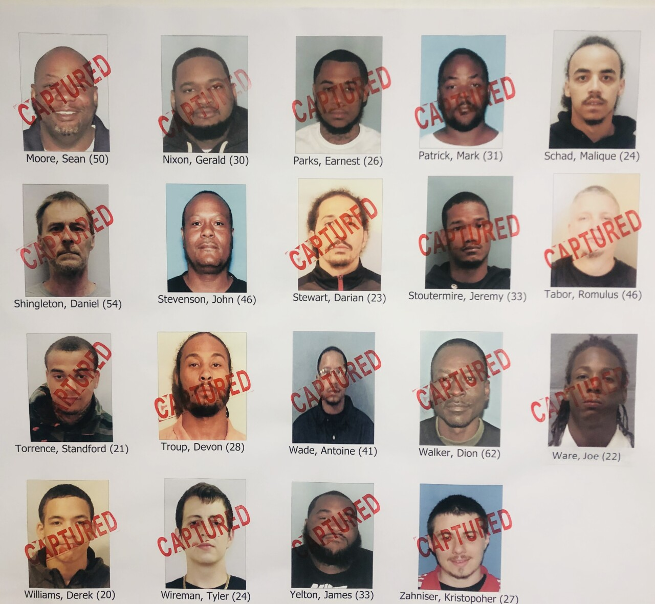 Mansfield arrests
