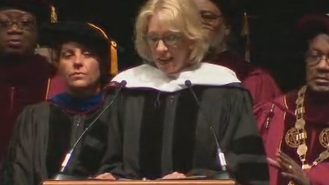 Betsy DeVos loudly booed during commencement speech at historically black college