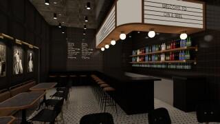 Gin & Reel speakeasy artist rendering