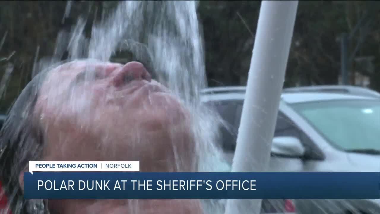 Sheriff Joe Baron gets dunked