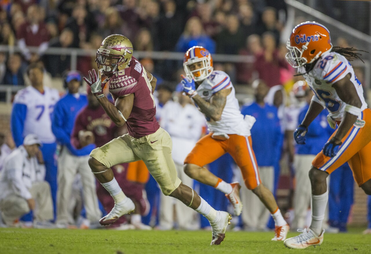 Florida State Seminoles receiver Travis Rudolph vs. Florida Gators in 2016
