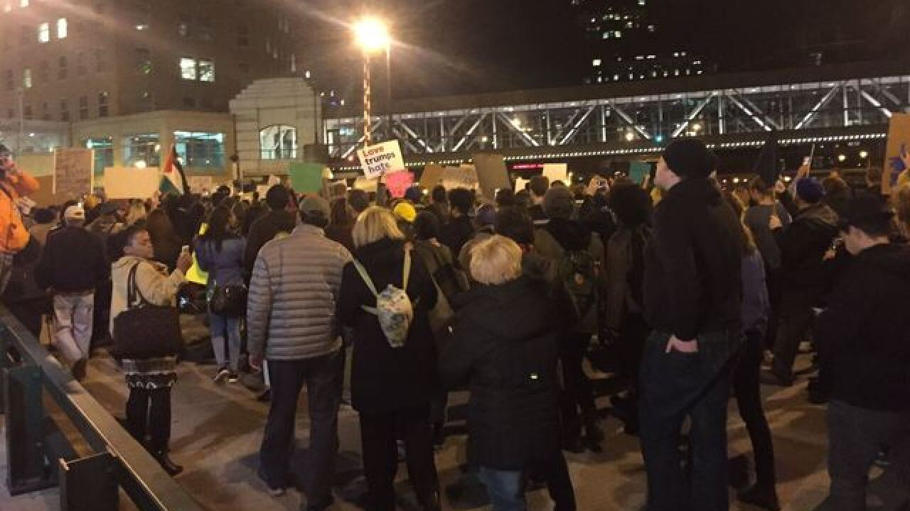 Hundreds of anti-Trump protesters fill Milwaukee
