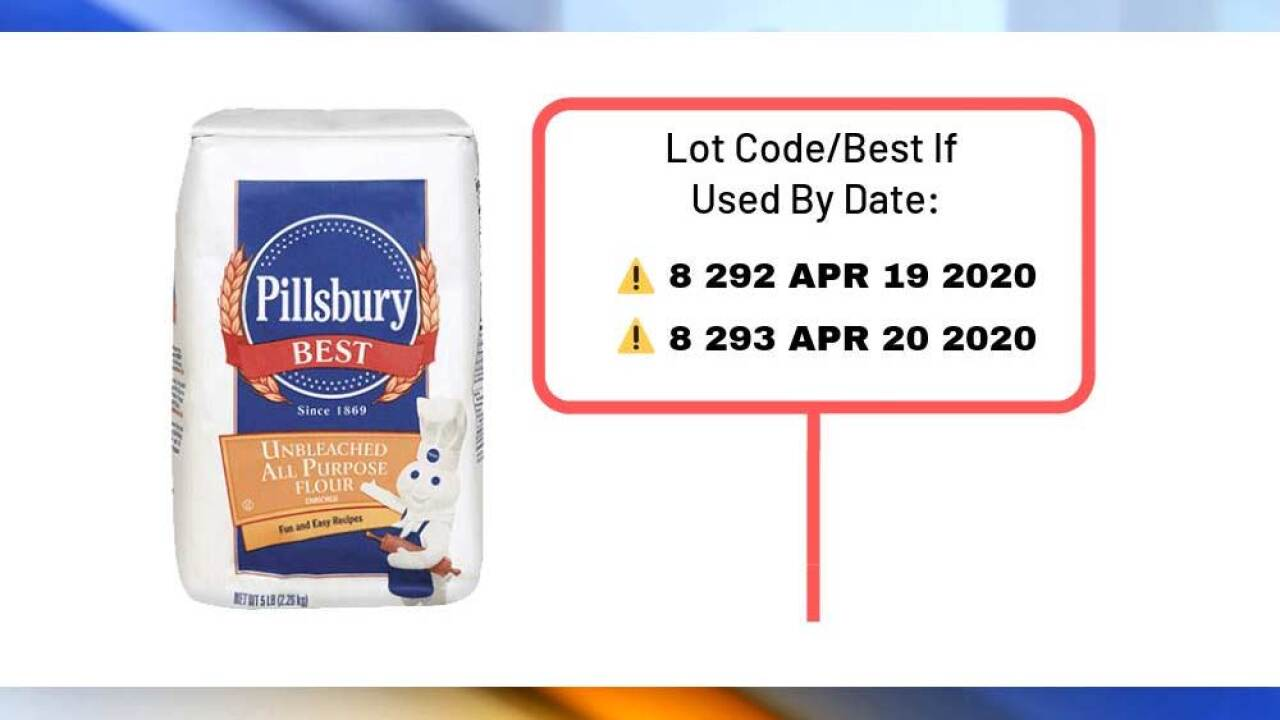 Hometown Food Company on March 11, 2019 announced a voluntary recall on select Pillsbury Unbleached All Purpose Flour products because they may be contaminated with Salmonella.